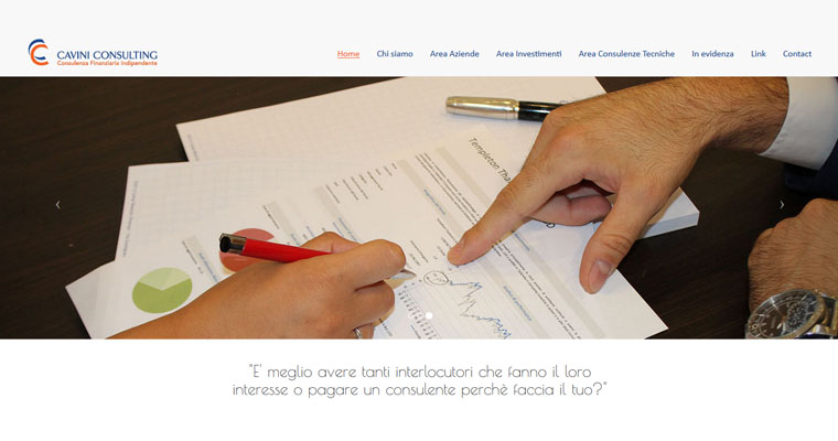Cavini Consulting srl responsive web design and development